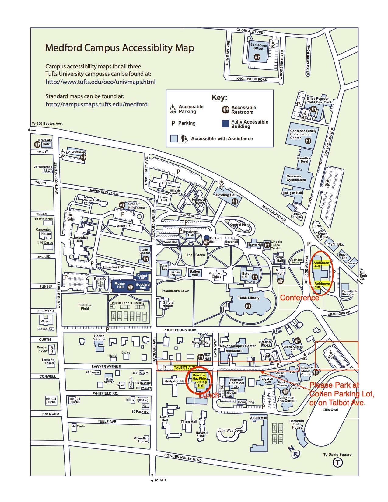 Tufts Medford Campus Map.Driving Direction And Parking For The Neclta Conference At Tufts